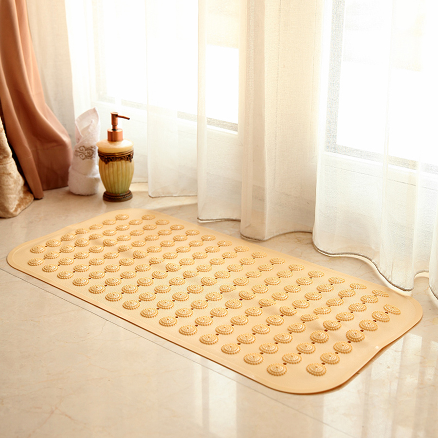 NEW EXTRA LONG PVC ANTI NON SLIP SOFT CUSHIONED SUCTION CUPS BATH SHOWER MAT